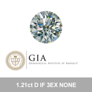 GIA 1.21ct D IF 3EX