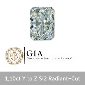 GIA 1.10ct Y TO Z SI2 VV Radiant-Cut